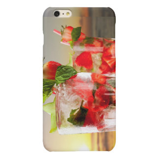 Strawberry cocktail iphone case