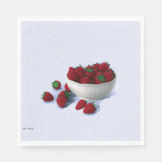 Strawberry Cocktail Napkins Paper Napkin