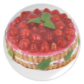 Strawberry Cream Cake Plate