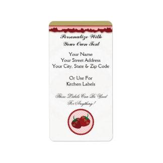 Strawberry Cream Pie Art Label