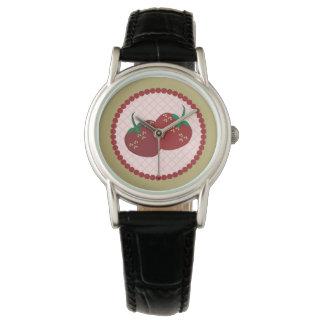 Strawberry Cream Pie Art Wrist Watches