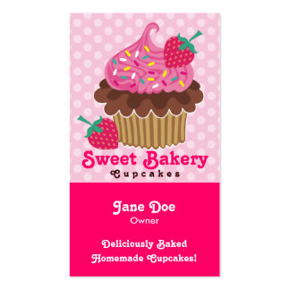 Strawberry Cupcake Business Cards