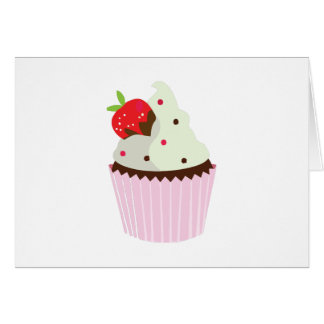 Strawberry Cupcake Card
