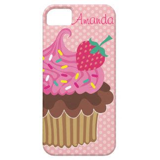 Strawberry Cupcake Custom iPhone 5 Case-Mate Case