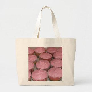 Strawberry cupcake large tote bag