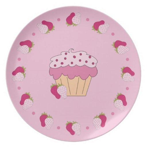 Strawberry Cupcake Plate