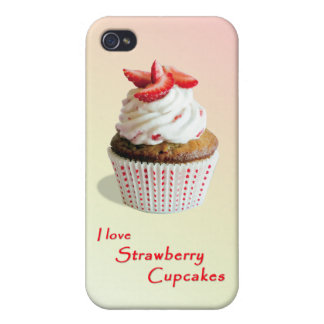 Strawberry Cupcakes - iPhone 4 & iPhone 4s Case Cover For iPhone 4