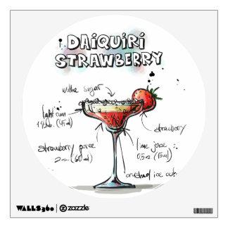 Strawberry Daiquiri Drink Recipe Design Wall Sticker