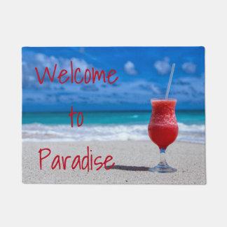 Strawberry Daiquiri Tropical Punch Caribbean Beach Doormat