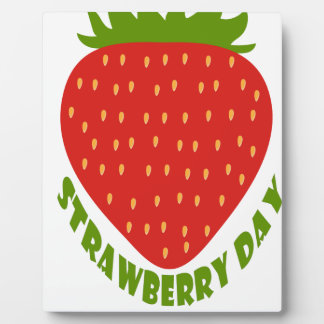 Strawberry Day - Appreciation Day Plaque
