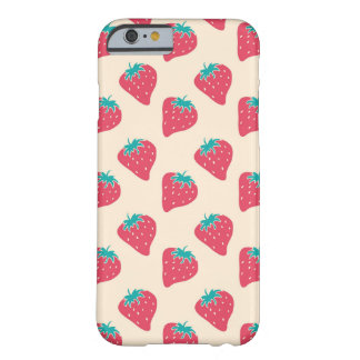 Strawberry Designer Pattern Barely There iPhone 6 Case