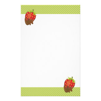 Strawberry dipped in chocolate stationery