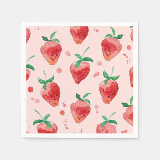 Strawberry Disposable Napkin