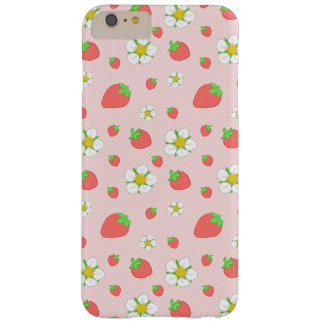 Strawberry Dots in Pink Barely There iPhone 6 Plus Case