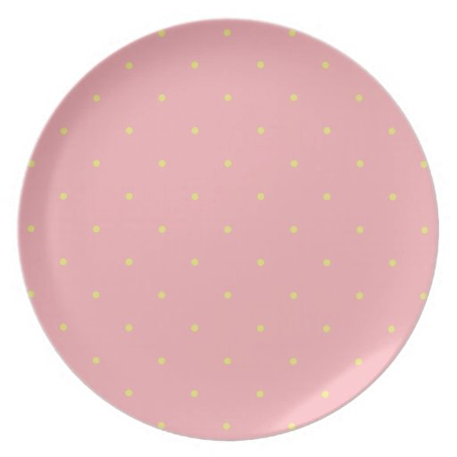 Strawberry Dots Party Plate