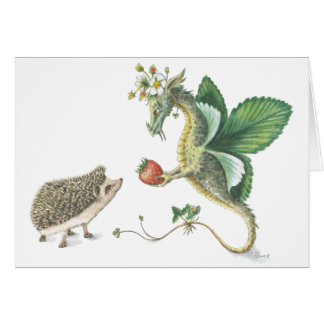 Strawberry Dragon notecard
