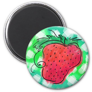 Strawberry Drawing Magnet