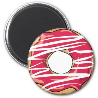 Strawberry Drizzle Donut Magnet