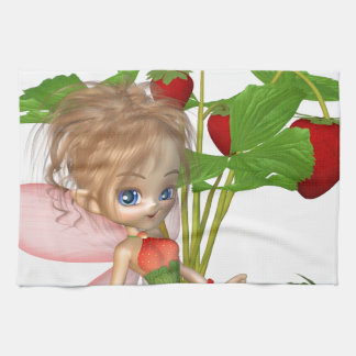 Strawberry Fairy Hand Towels