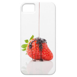 Strawberry falling to him fused chocolate iPhone 5 case