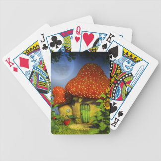 Strawberry fantasy house bicycle playing cards