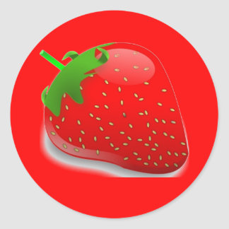 Strawberry Festival Classic Round Sticker