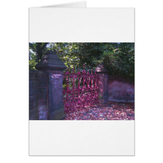 Strawberry Field Gates, Liverpool UK Card
