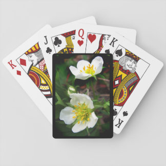 Strawberry Flowers Playing Cards