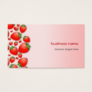 Strawberry Fresh Pink Business Card