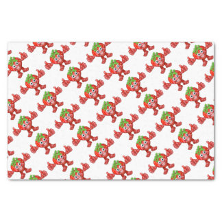 Strawberry Fruit Cartoon Character Mascot Tissue Paper
