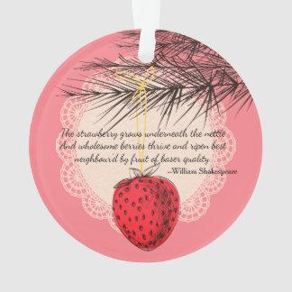Strawberry fruit culinary Christmas ornament