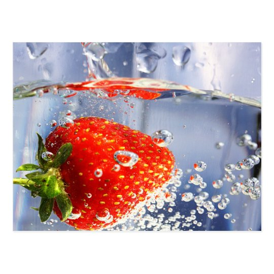 Strawberry fruit in water photography beautiful postcard