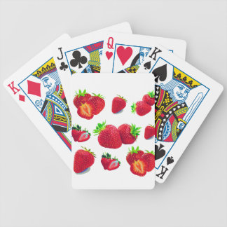 Strawberry Fruit Pattern Bicycle Playing Cards