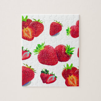 Strawberry Fruit Pattern Jigsaw Puzzle