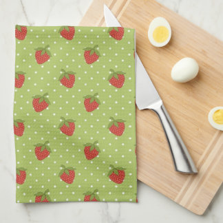 Strawberry Fruit pattern kitchen towel