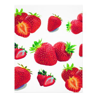Strawberry Fruit Pattern Letterhead
