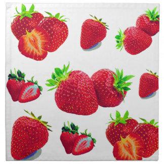 Strawberry Fruit Pattern Napkin