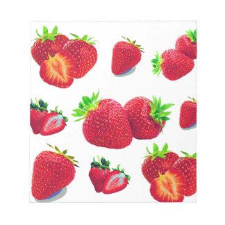 Strawberry Fruit Pattern Notepad