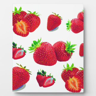 Strawberry Fruit Pattern Plaque