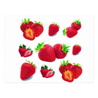 Strawberry Fruit Pattern Postcard