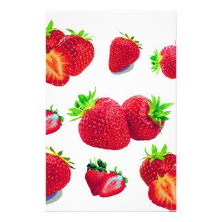Strawberry Fruit Pattern Stationery