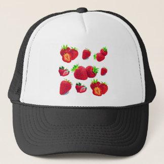 Strawberry Fruit Pattern Trucker Hat