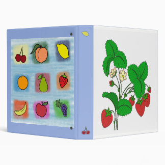 Strawberry Fruit Surprise Reversible 3 Ring Binders