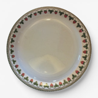 Strawberry Fruit, Wedgwood Etruria, c1900 Paper 9 Inch Paper Plate