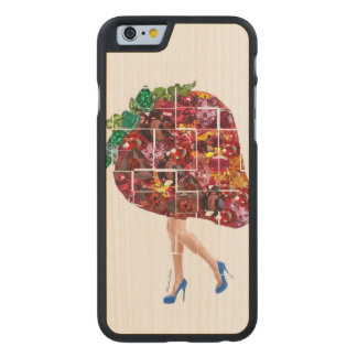 Strawberry Gems Carved® Maple iPhone 6 Slim Case