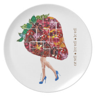 Strawberry Gems Dinner Plates