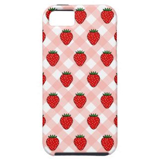 Strawberry Gingham iPhone 5 Case