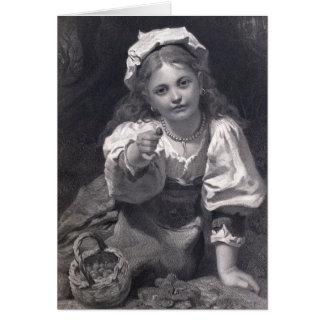 Strawberry girl card