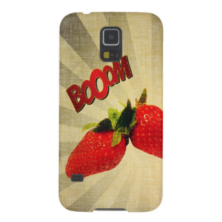 Strawberry go BOOM Popart Cases For Galaxy S5