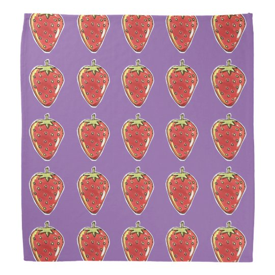 strawberry hand drawing cartoon style kerchiefs